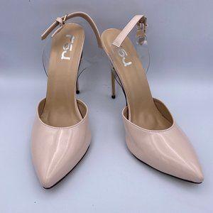 FSJ Cute Stiletto High Heels Slingback Pumps Clear